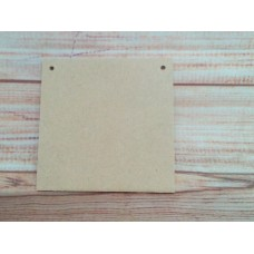 4mm Thick MDF Square Plaque 100mm